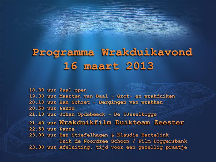 Programma 16 maart 2013